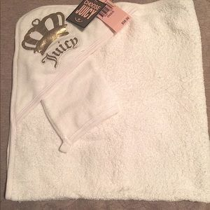 Juicy Couture baby bath towel NWT